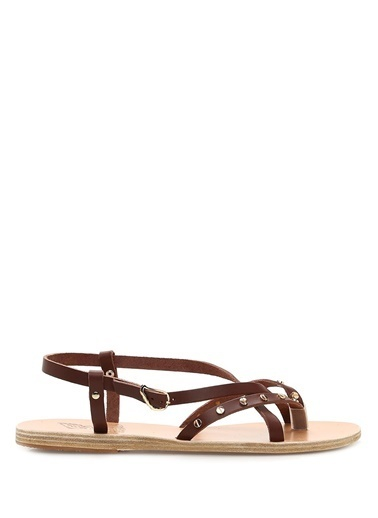 Ancient Greek Sandals Sandalet Kahve